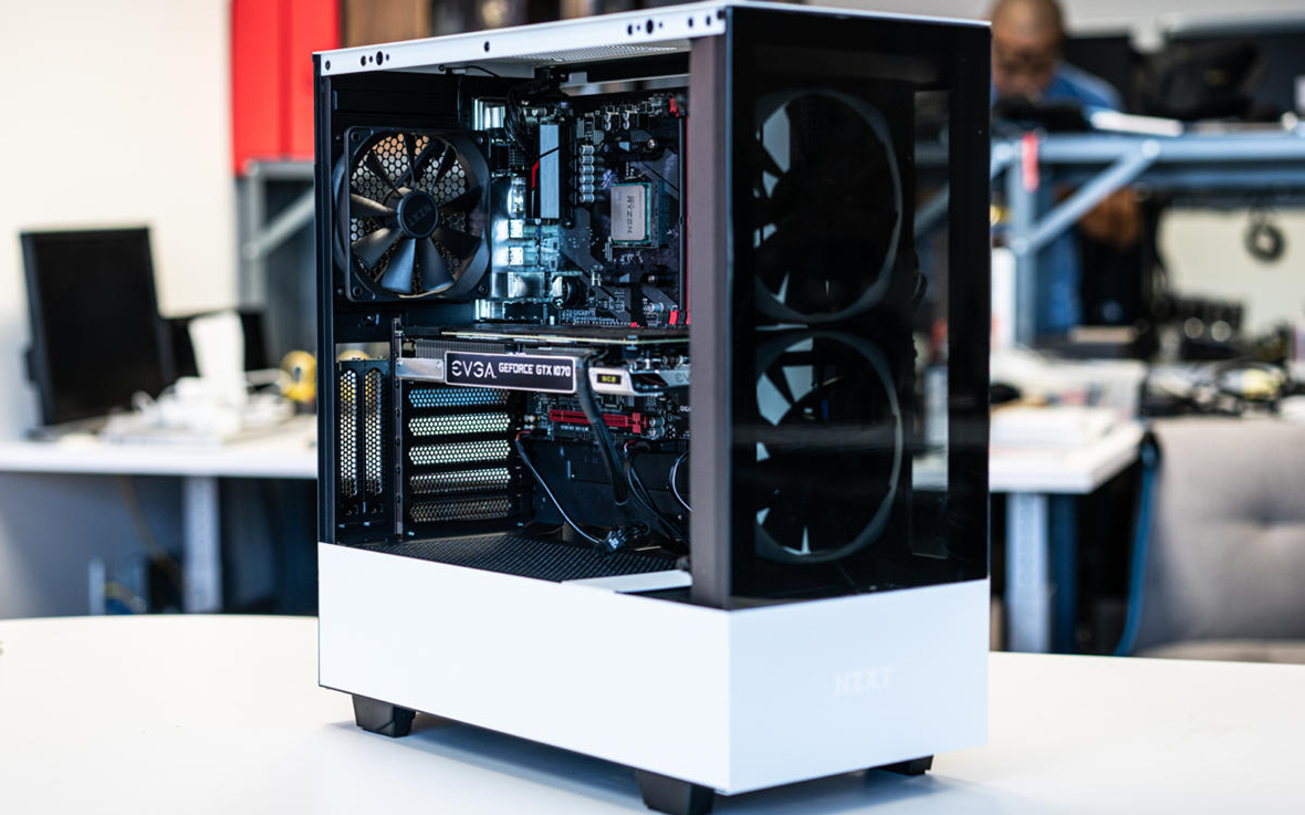 dual tempered glass pc case