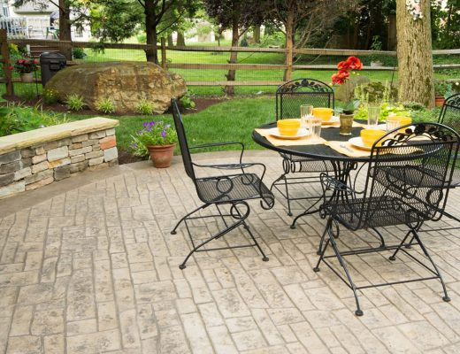 stamped concrete patterns for patios